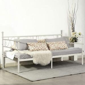 eggree cadre de lit en m tal structure lit banquette en lit simple pour enfants ebay. Black Bedroom Furniture Sets. Home Design Ideas