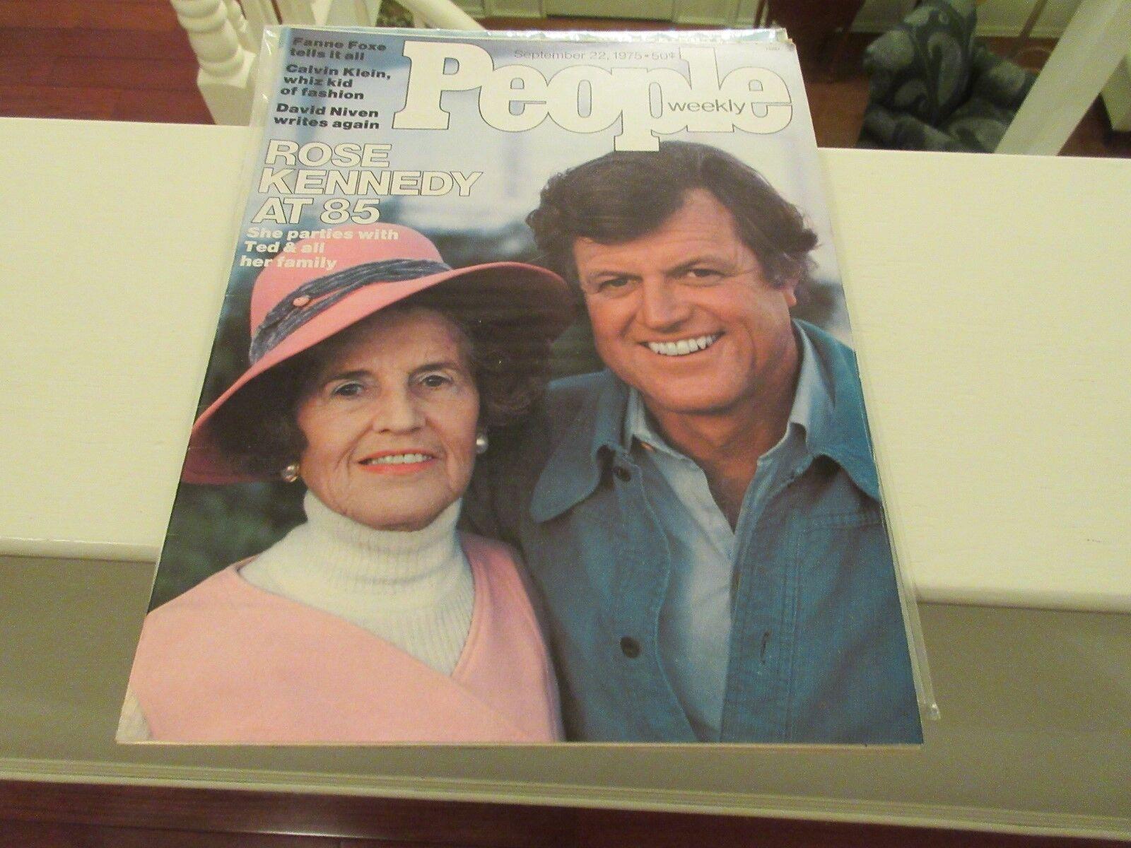 Rose Kennedy at 85 , People Magazine , 9/22/1975 , Fann
