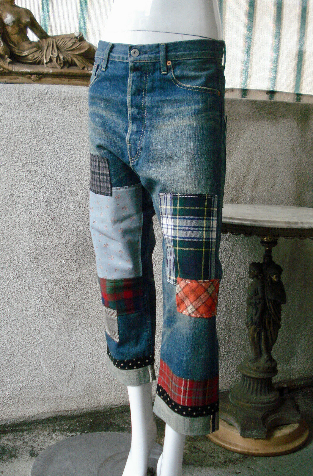 Junya Watanabe Comme des Garcons Patchwork Selvedge Jeans  S