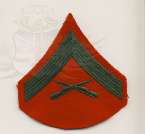 US-MARINE-CORPS-EMBROIDERED-LANCE-CORPORAL-E-3-MALE-SLEEVE-RANK-PATCH-MILITARY
