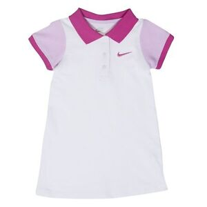 NIKE Colorblock Polo Dress Tennis Casual White Pink NWT 2T ...