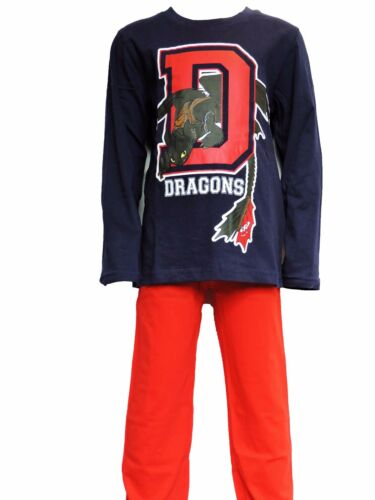 Boys Dragons Long Sleeve Cotton Pyjama Set//Nightwear Age 4-9 Years