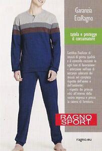 Winter-Pajamas-Male-Warm-Cotton-100-Long-Outline-ragno-Sport-N24751