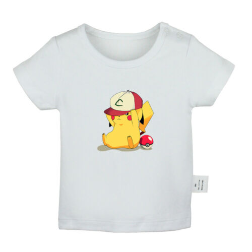 Pikachu hat play Newborn Baby T-shirt Infant Clothes Toddler Graphic Tee Vest