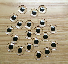 Black small pupil acrylic blank Blythe eye chips for Custom Use(1 Pair)
