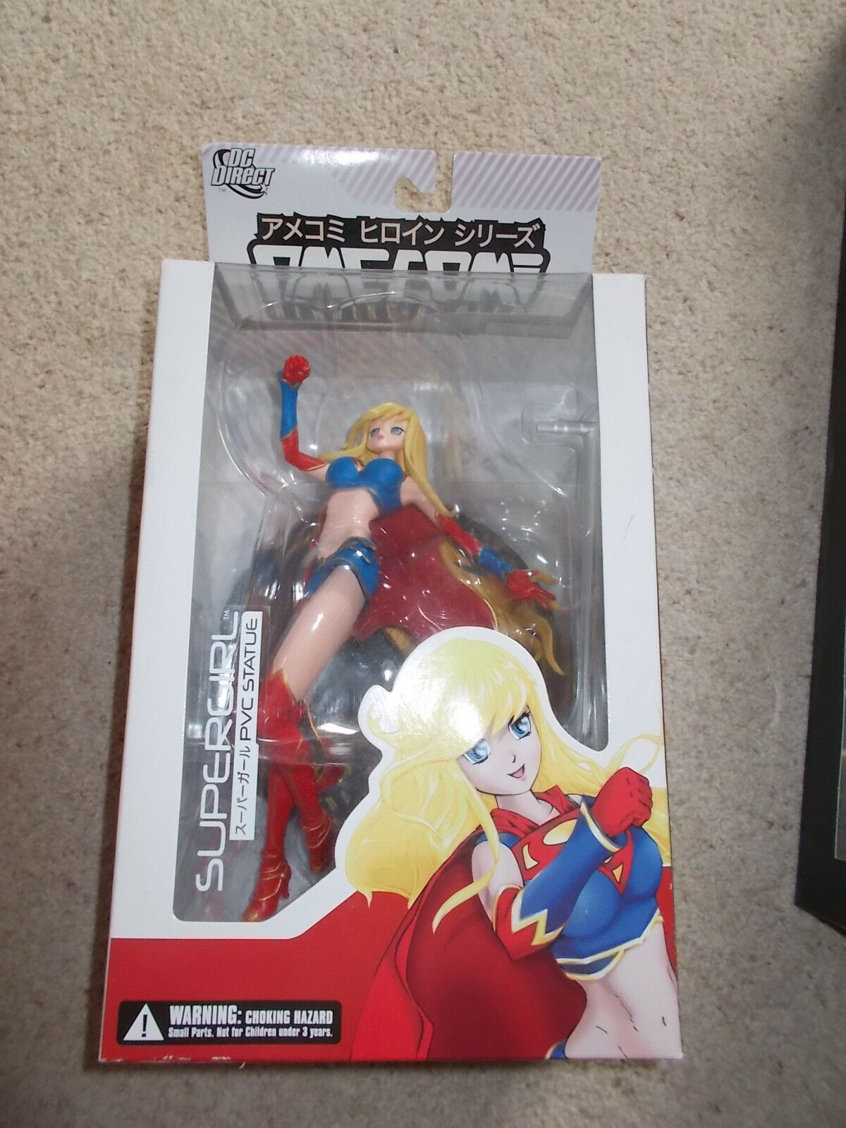DC DIRECT Ame-Com Heroine Series 'SUPERGIRL' PVC Statue / BOXED NEW