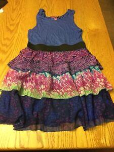8e11070d Image is loading EPIC-THREADS-Girls-Sleeveless-Dress-Blue-w-GeometrIc-