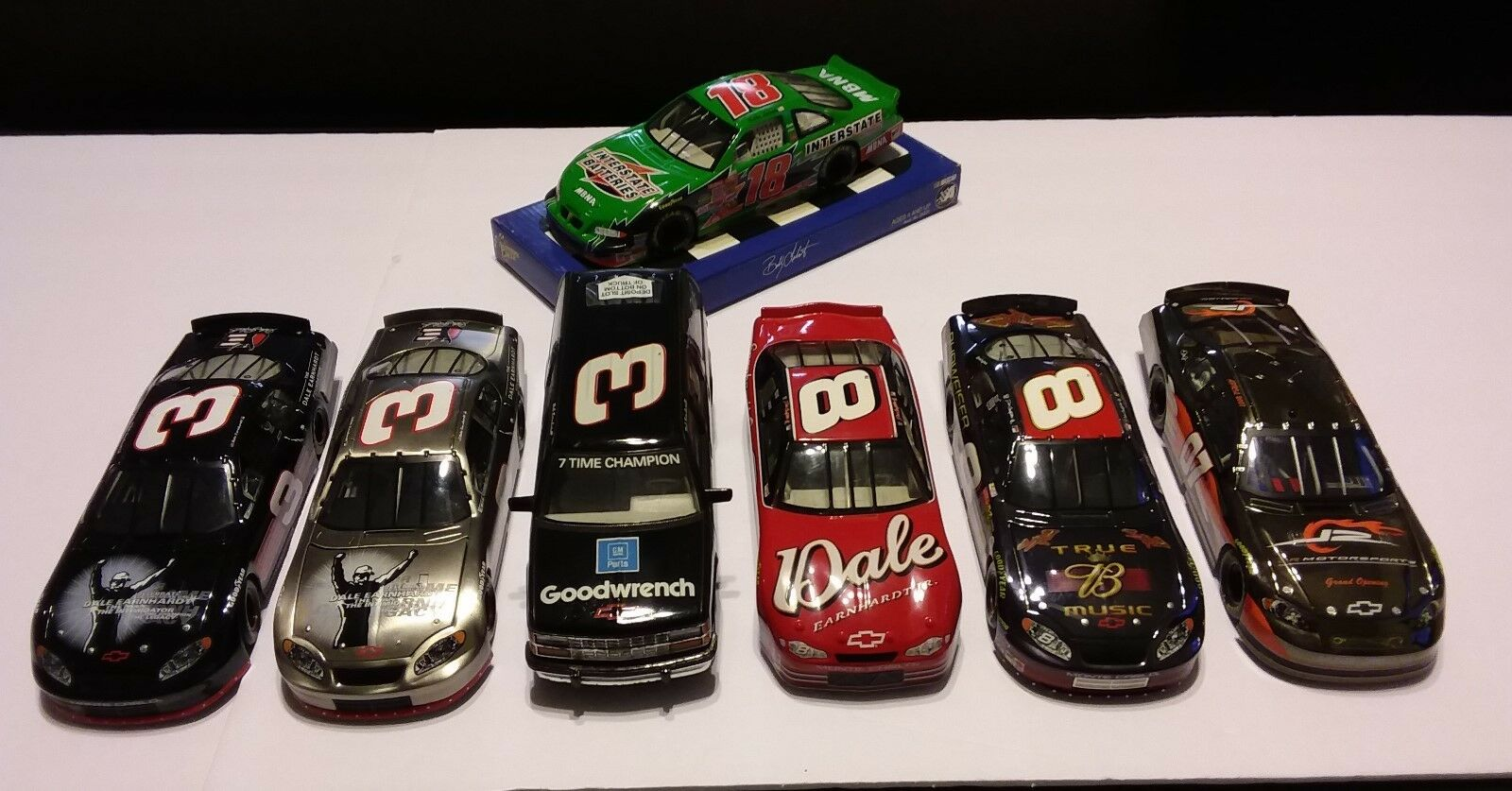 NASCAR DALE EARNHARDT COLLECTION plus BoBBy Labonte Race Car, 7 CT, Pre-owned