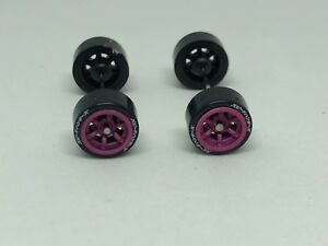 Tires-1-64-Roues-Pink-Kit-Four-Fits-Hot-Roues-Matchbox-et-Many-Others