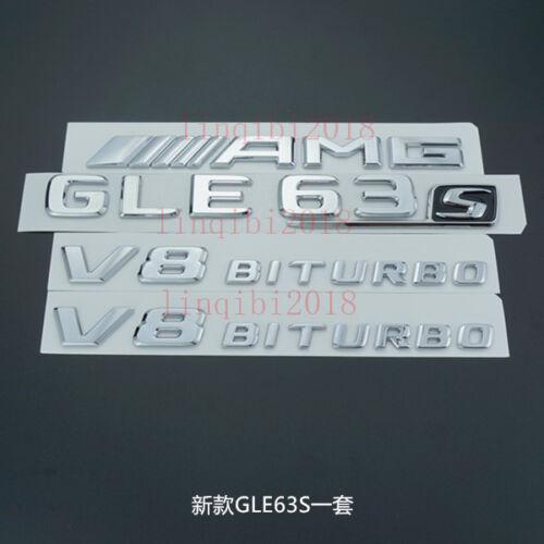 """V8 BITURBO /"""" Letters Trunk Embl Badge Sticker for Mercedes Benz AMG /""""GLE63s"""