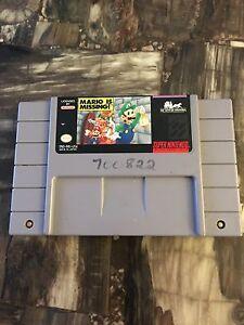 Snes-Super-Nintendo-Mario-Is-Missing-Cart