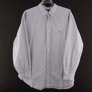 Polo-Ralph-Lauren-Classic-Fit-Purple-Oxford-Golf-Dress-Shirt-Size-17-5-34-35-XL
