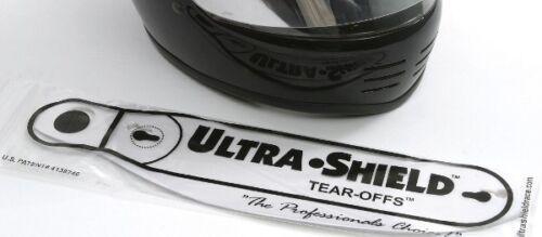Box of Visor Tear-Offs 13in Curved for Simpson Shark Vudo Invader Valor Helmet