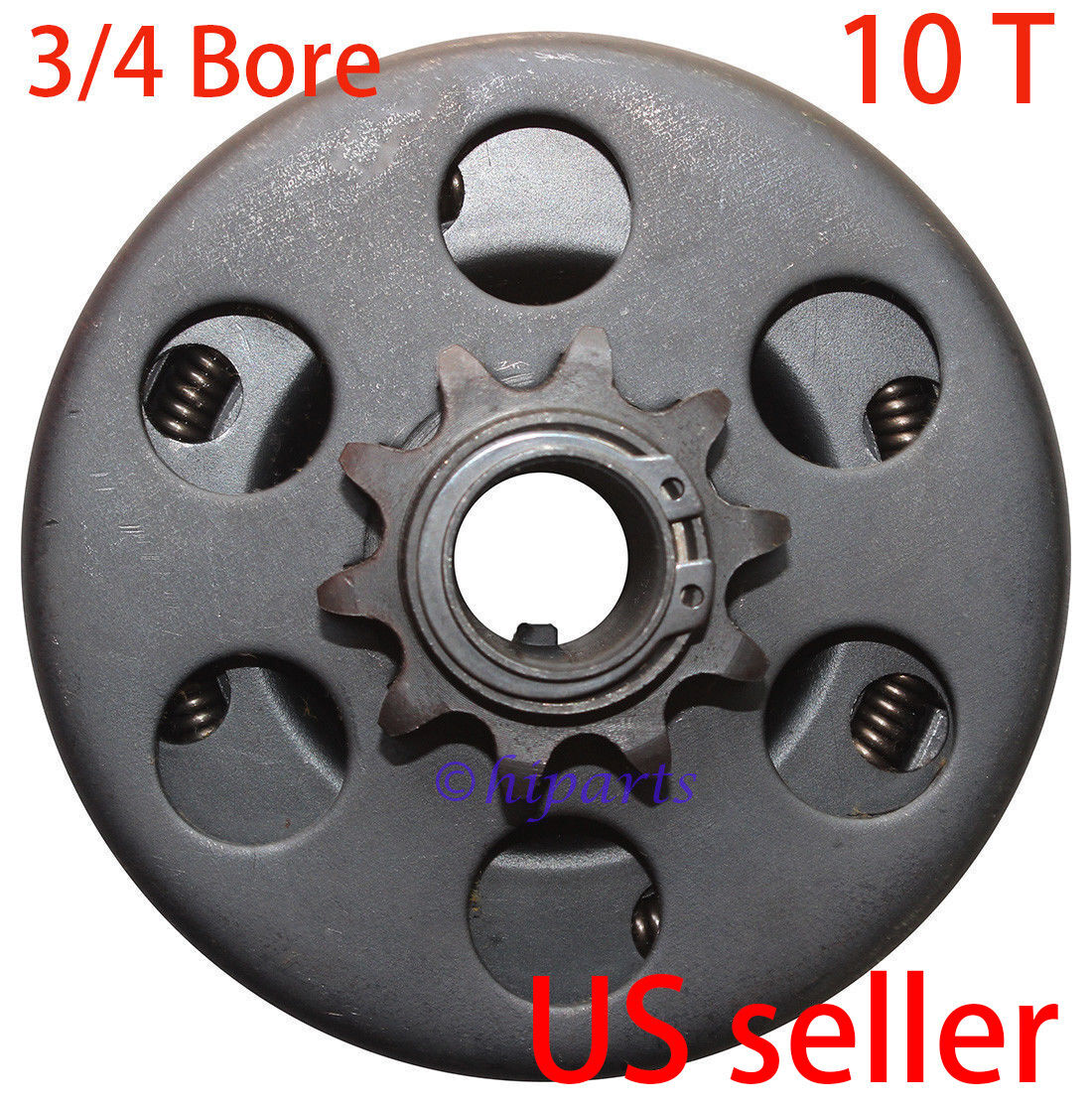 Woniu Centrifugal Go Kart Mini Bike Clutch 3//4 Bore 10 Tooth 10T for 40,41,420 Size Chain