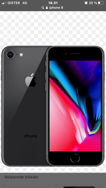 iPhone 8, 64 GB, sort, God, Her denne her iPhone 8 tilsalg…