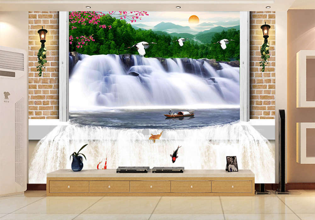 Enormous Long Fall 3D Full Wall Mural Photo Wallpaper Printing Home Kids Decor