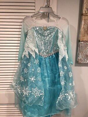 Disney Store Authentic Elsa Deluxe Costume for Girls Frozen Sz 5 6 7 8 9 10 NWT