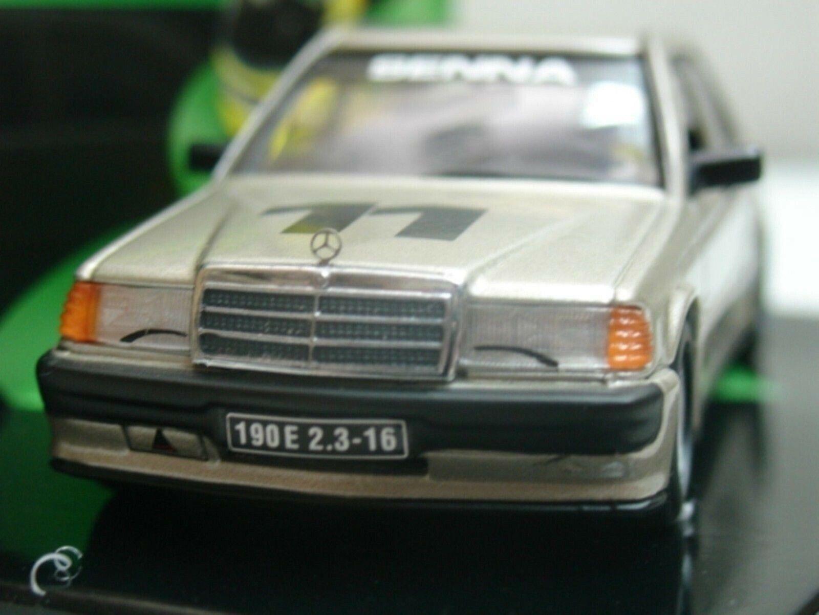 Wow extrêmement rare MERCEDES W201 190E Evo1  11 Senna Nurburgring 1 43 Minichamps
