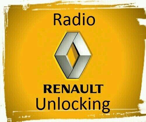 Renault Decodificar Desbloqueo de códigos de coche reproductor de CD radio Kangoo master Maxity Mascott