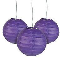 12 Purple Paper Chinese Lanterns Centerpieces Wedding Party Decorations
