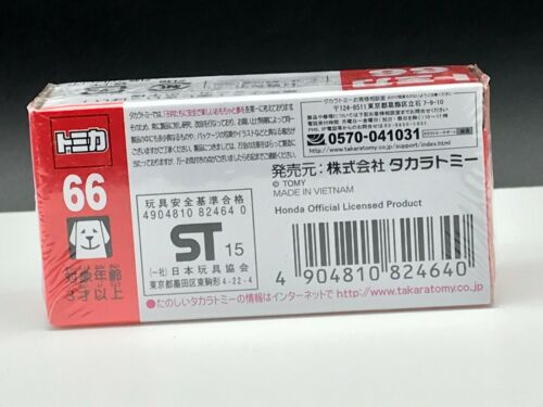 Tomica #66 Honda FIT 1//61 scale Takara Tomy Sealed Diecast Toy Car Discontinued