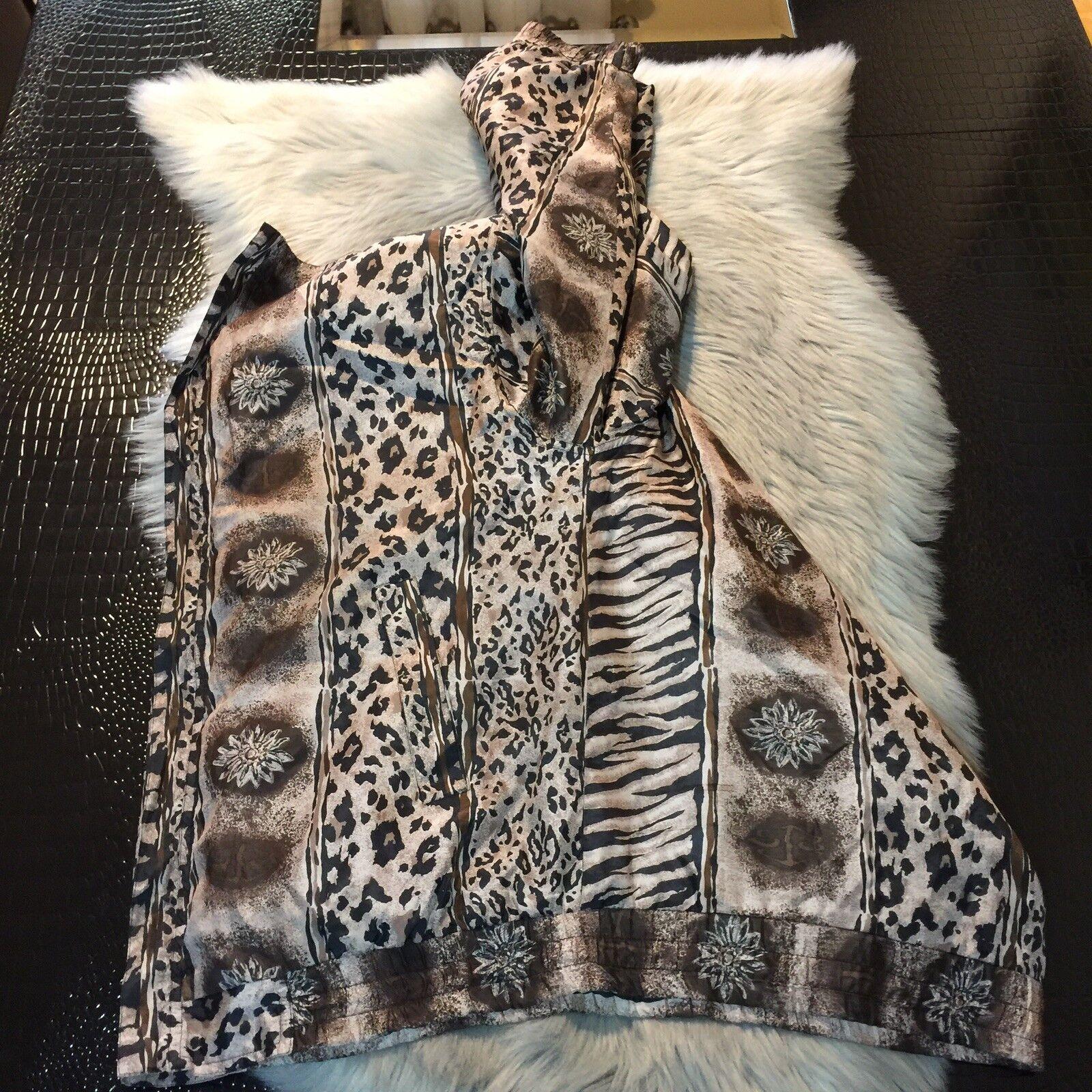Women's Fuda International Zip Jacket ~ Sz L~ Ani… - image 7