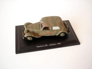 voiture miniature citroen traction 11 bl militaire 1940 norev 1 43 ebay. Black Bedroom Furniture Sets. Home Design Ideas