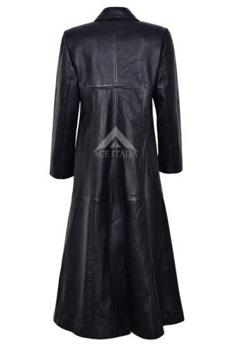 Cuir Style Noir Longueur Avec Manteau Doublure Femme 298 Rouge Gothique En Trench xwvRntW8R