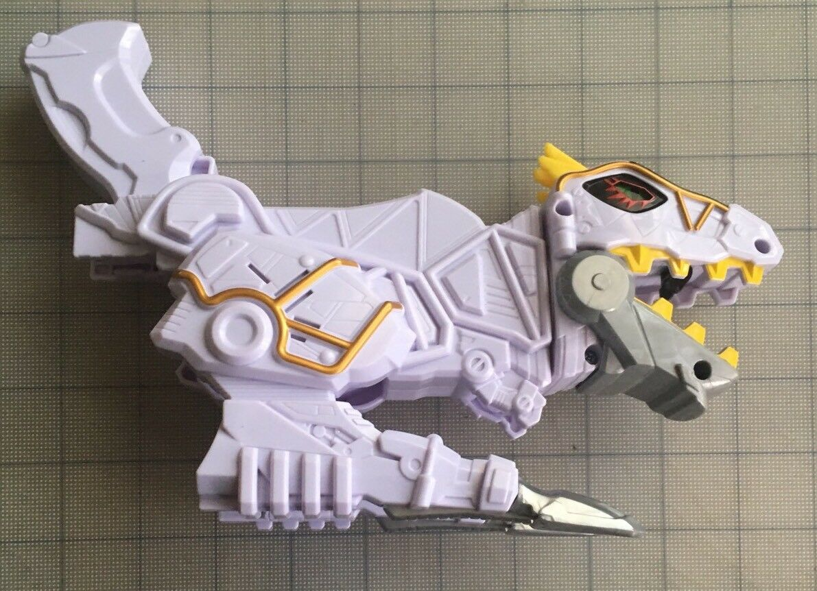 Power Rangers Dino SuperCharge Limited Deluxe Dino Charge Morpher Weiß Edition