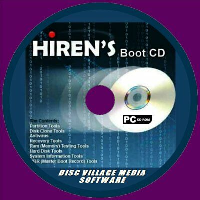 HIRENS BOOT DISC UTILITIES CD BACKUP FIX SLOW RUNNING CRASH ERRORS  PC/LAPTOP NEW | eBay