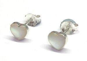 Image Is Loading Funky 925 Sterling Silver Mother Of Pearl Heart