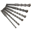 6-16mm SDS Rotary Twist Drill Bit Set Round Shank Spiral Flute For Concrete Tool
