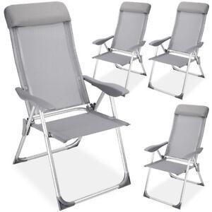 Das Bild Wird Geladen 4er Set Alu Klappstuhl Gartenstuhl Campingstuhl Stuhl  Aluminium