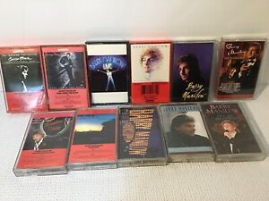 Lot Of 11 Barry Manilow Cassette Tapes 80's Easy Listening Light Rock