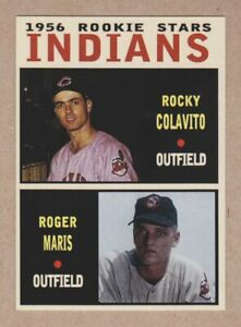 Roger-Maris-amp-Rocky-Colavito-039-56-Cleveland-Indians-rookie-stars-Pastime-series