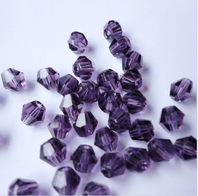free shipping 500pcs purple ab acrylic beads 4mm # 5301 Bicone Beads loose