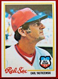 1978-Topps-40-Carl-Yastrzemski-Boston-Red-Sox-HOF-Beautiful-Corners-All-Star