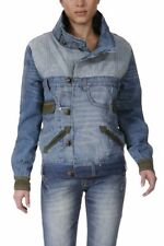 MANTEAU DESIGUAL CLUB 25 NEUF JEANS PATCHWORK TAILLE 38