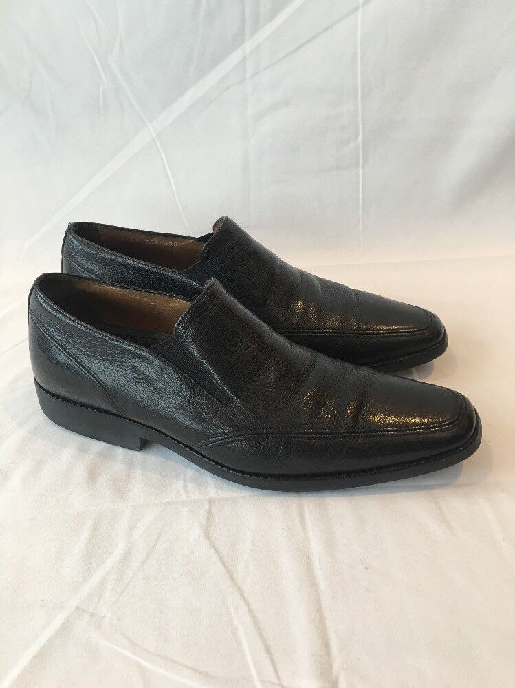 Michael Toschi Mario Double Side Gore Loafers Men's Black Leather Shoes 10.5