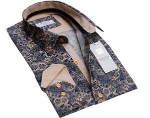 Russell-amp-Giles-Men-s-Luxury-Designer-Shirt-Medium-15-5-034-Collar-Casual-Formal