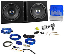 MTX Audio Magnum MB210SP Dual 10-Inch Enclosure//Amp Combo Black