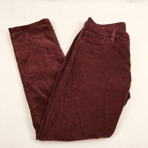 Quicksilver-Pants-Coduroy-Mens-Size-30-Burgundy-Retro-Style