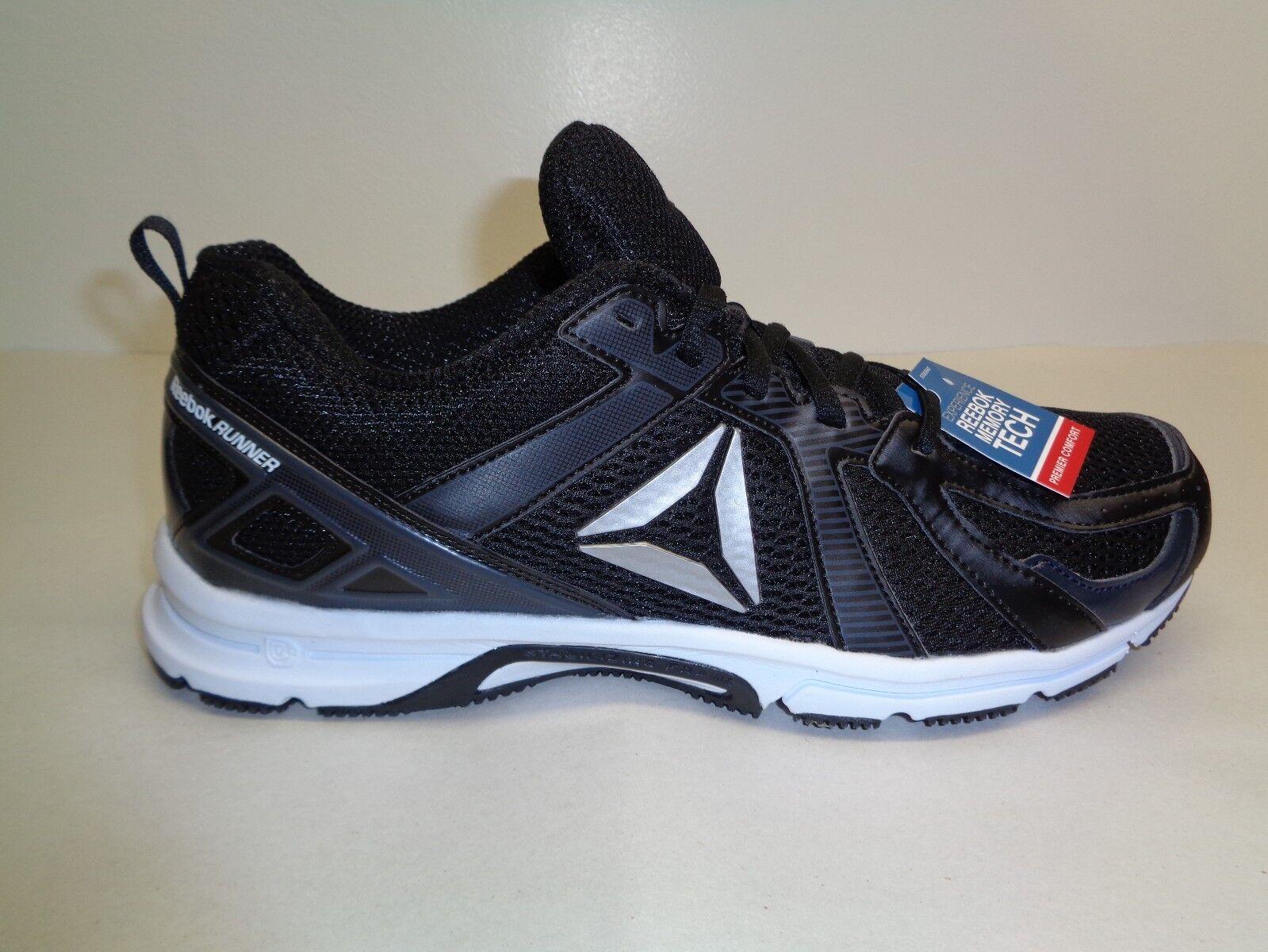 Reebok Size 11 M RUNNER MT Black Coal White Running Sneakers New Mens Shoes