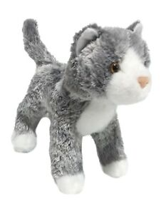 Douglas Scatter Gray White Cat Plush Stuffed Animal Silver Kitten