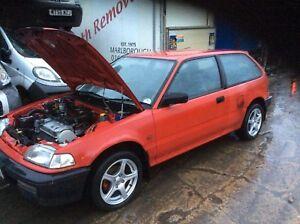 1991-HONDA-CIVIC-MK4-EC83-1-3-16v-75bhp-complete-petrol-Engine-D13B1