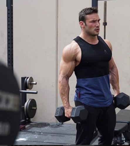 Fashion Men Gym Cotton Tank Tops Bodybuilding Sleeveless Workout Fitness Tops