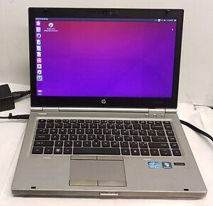 """HP EliteBook 8460p 14"""" Notebook  i5-2520M 2.5GHz 4GB DDR3 256GB SSD Ubuntu 15"""
