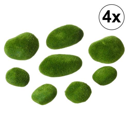 32x Moossteine Kunstmoos Set grün Garten Osterdeko Dekoration Dekomoos Stein