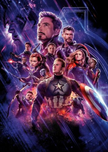 Avengers End Game Movie Hero Large Poster Art Print Giant A0 to A5 Small Sizes