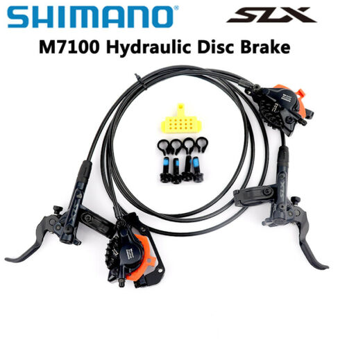 Shimano SLX M7100 MTB Hydraulic Disc Brake Set Front/&Rear Ice-Tech RT81//RT86